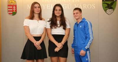 Tatabánya ifjú Európa-bajnokait köszöntötték