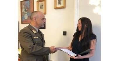Honvédelmi miniszteri elismerés a vöröskeresztesek munkájáért