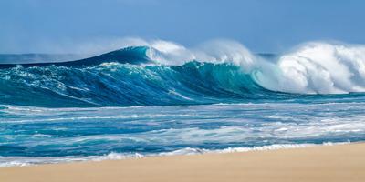 A partra vetette egy hullám a férfit, aki egy hörcsögkerékkel akart járni a vízen - Fotó