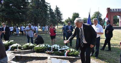 A holokauszt áldozataira emlékeztek Nagykanizsán