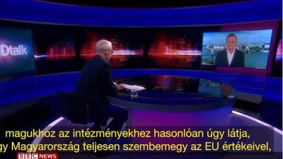 A BBC nem engedi, hogy a magyar közmédia leadja a Szijjártó-interjút