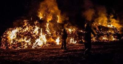 Leégett egy bálatároló Sárszentmihályon szombat éjszaka