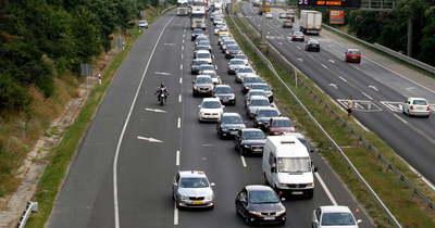 Két autó karambolozott az M7-es autópályán Balatonvilágosnál