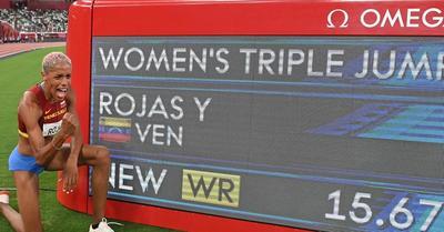 Tokió 2020: világcsúcsot ugrott a venezuelai győztes női hármasugrásban