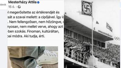Deutsch Tamás horogkeresztes képpel válaszolt Mesterházy Attilának