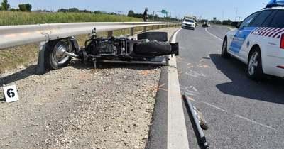 Életveszélyesen megsérült egy motoros a 44-esen, Békéscsabánál