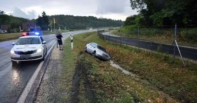Engedély nélkül vezetett és balesetet okozott egy férfi a 76-os főúton