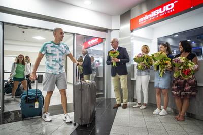 Hazatértek az úszóink az olimpiáról - galéria