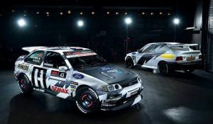 Ralibalesetben porrá égett Ken block Escort Cosworthja