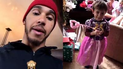 Trombitás Kristóf (Facebook): Hamilton elvinné a bahreini nagydíjra lánynak öltözött unokaöccsét?