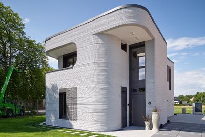 Különleges, betonnyomtatással készült házat adtak át Németországban
