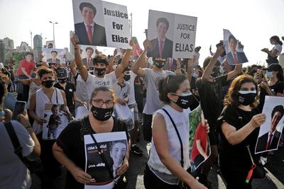 Tízezrek tüntettek Libanonban az egy évvel ezelőtti kikötői robbanás miatt