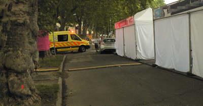 Biciklis ütközött autósnak Esztergomban – sérült is volt