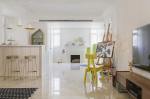 Vidám színek egy elegáns otthonban